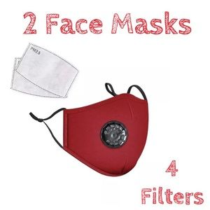 Accessories - ✏️DEAL✏️ 2 Washable Red Cotton Face Covers